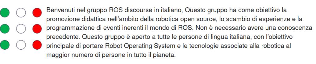 ROS Italian language